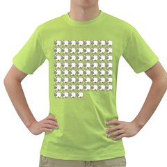 Cow Eating Line Green T-Shirt