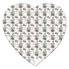 Cow Eating Line Jigsaw Puzzle (Heart)