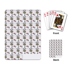 Cow Eating Line Playing Card