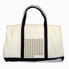 Cow Eating Line Two Tone Tote Bag