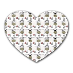 Cow Eating Line Heart Mousepads