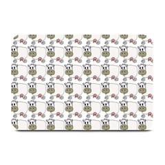 Cow Eating Line Plate Mats
