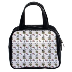 Cow Eating Line Classic Handbags (2 Sides)