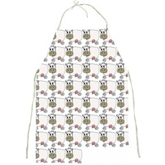 Cow Eating Line Full Print Aprons