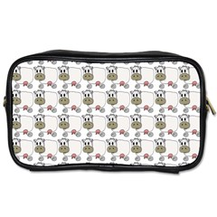 Cow Eating Line Toiletries Bags