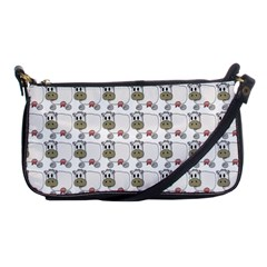 Cow Eating Line Shoulder Clutch Bags