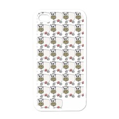 Cow Eating Line Apple iPhone 4 Case (White)