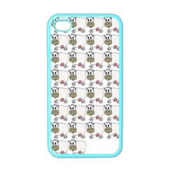 Cow Eating Line Apple iPhone 4 Case (Color)