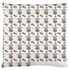 Cow Eating Line Large Cushion Case (Two Sides)