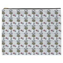 Cow Eating Line Cosmetic Bag (XXXL)