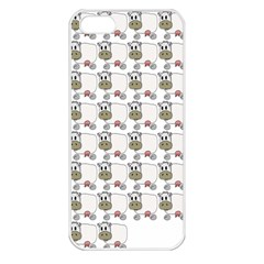 Cow Eating Line Apple iPhone 5 Seamless Case (White)