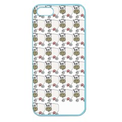 Cow Eating Line Apple Seamless iPhone 5 Case (Color)
