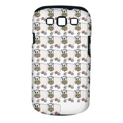Cow Eating Line Samsung Galaxy S III Classic Hardshell Case (PC+Silicone)
