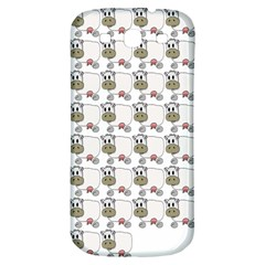 Cow Eating Line Samsung Galaxy S3 S III Classic Hardshell Back Case