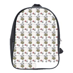 Cow Eating Line School Bags (XL)