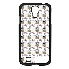 Cow Eating Line Samsung Galaxy S4 I9500/ I9505 Case (Black)