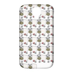 Cow Eating Line Samsung Galaxy S4 Classic Hardshell Case (PC+Silicone)