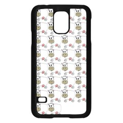 Cow Eating Line Samsung Galaxy S5 Case (Black)