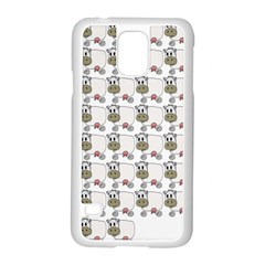Cow Eating Line Samsung Galaxy S5 Case (White)