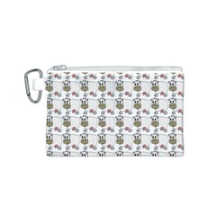Cow Eating Line Canvas Cosmetic Bag (S)