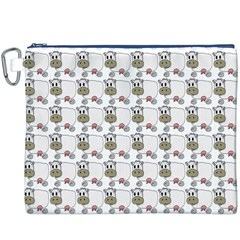 Cow Eating Line Canvas Cosmetic Bag (XXXL)