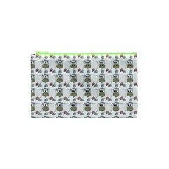 Cow Eating Line Cosmetic Bag (XS)
