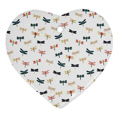Dragonflies Animals Fly Ornament (Heart)