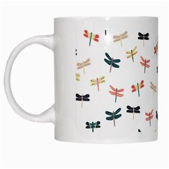 Dragonflies Animals Fly White Mugs