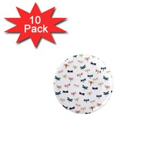 Dragonflies Animals Fly 1  Mini Magnet (10 pack)