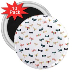 Dragonflies Animals Fly 3  Magnets (10 pack)