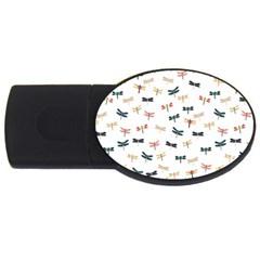 Dragonflies Animals Fly USB Flash Drive Oval (1 GB)