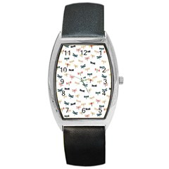 Dragonflies Animals Fly Barrel Style Metal Watch