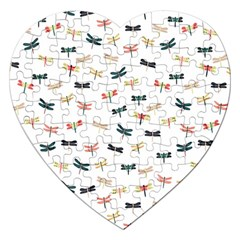 Dragonflies Animals Fly Jigsaw Puzzle (Heart)