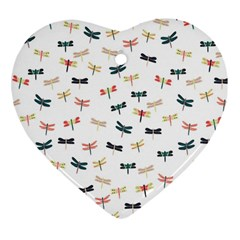Dragonflies Animals Fly Heart Ornament (Two Sides)