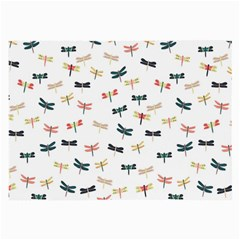 Dragonflies Animals Fly Large Glasses Cloth