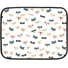 Dragonflies Animals Fly Double Sided Fleece Blanket (Mini)