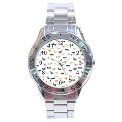Dragonflies Animals Fly Stainless Steel Analogue Watch
