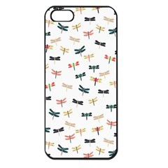 Dragonflies Animals Fly Apple iPhone 5 Seamless Case (Black)