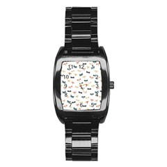 Dragonflies Animals Fly Stainless Steel Barrel Watch