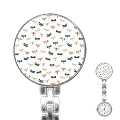 Dragonflies Animals Fly Stainless Steel Nurses Watch