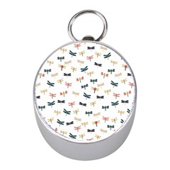 Dragonflies Animals Fly Mini Silver Compasses
