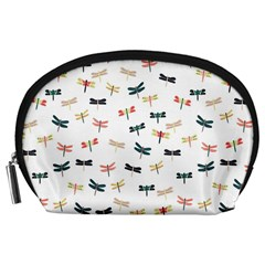 Dragonflies Animals Fly Accessory Pouches (Large)