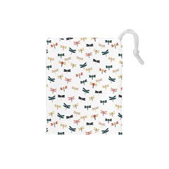 Dragonflies Animals Fly Drawstring Pouches (Small)