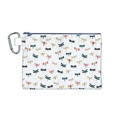 Dragonflies Animals Fly Canvas Cosmetic Bag (M)