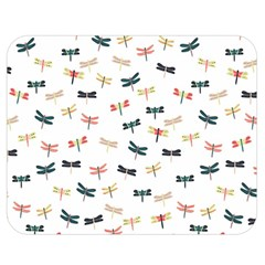 Dragonflies Animals Fly Double Sided Flano Blanket (Medium)