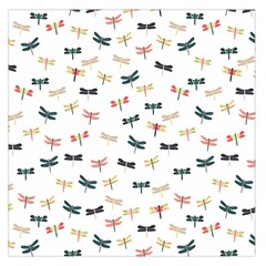 Dragonflies Animals Fly Large Satin Scarf (Square)