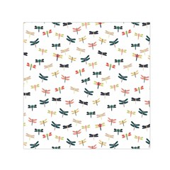 Dragonflies Animals Fly Small Satin Scarf (Square)