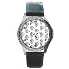 Fish Ikan Piranha Round Metal Watch