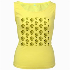 Fish Ikan Piranha Women s Yellow Tank Top