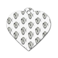 Fish Ikan Piranha Dog Tag Heart (Two Sides)